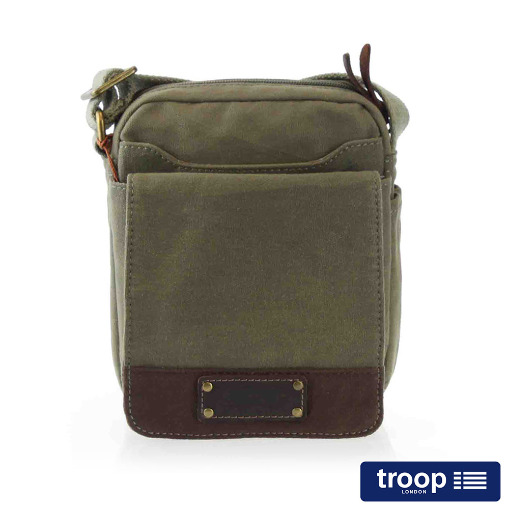 【TROOP】英倫風格OXFORD斜背包/TRP0350GN