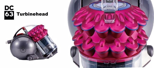 【鐵樂瘋3C】(展翔)dyson DC63 turbinerhead 圓筒式吸塵器(基本俏麗桃紅款)年終尾牙檔特價(僅此一檔)