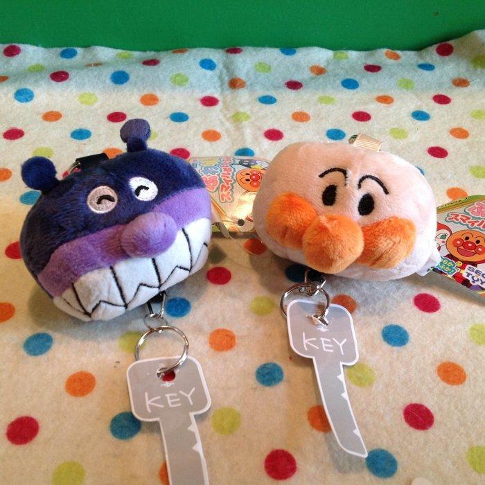 =優生活=日本 Apanman麵包超人細菌人 自動伸縮鑰匙扣 包包鑰匙圈 掛飾 鑰匙收納袋 現貨!!!!