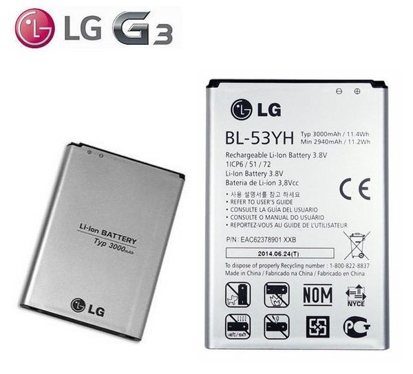 【免運費】LG G3 BL-53YH【原廠電池】G3 D855 D850 2940mAh~3000mAh
