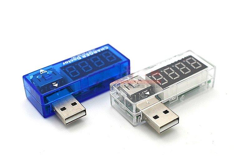 (專業 USB 電壓電流表) 電壓表 電流表 USB充電電流/電壓檢測器5V專用(不挑色)