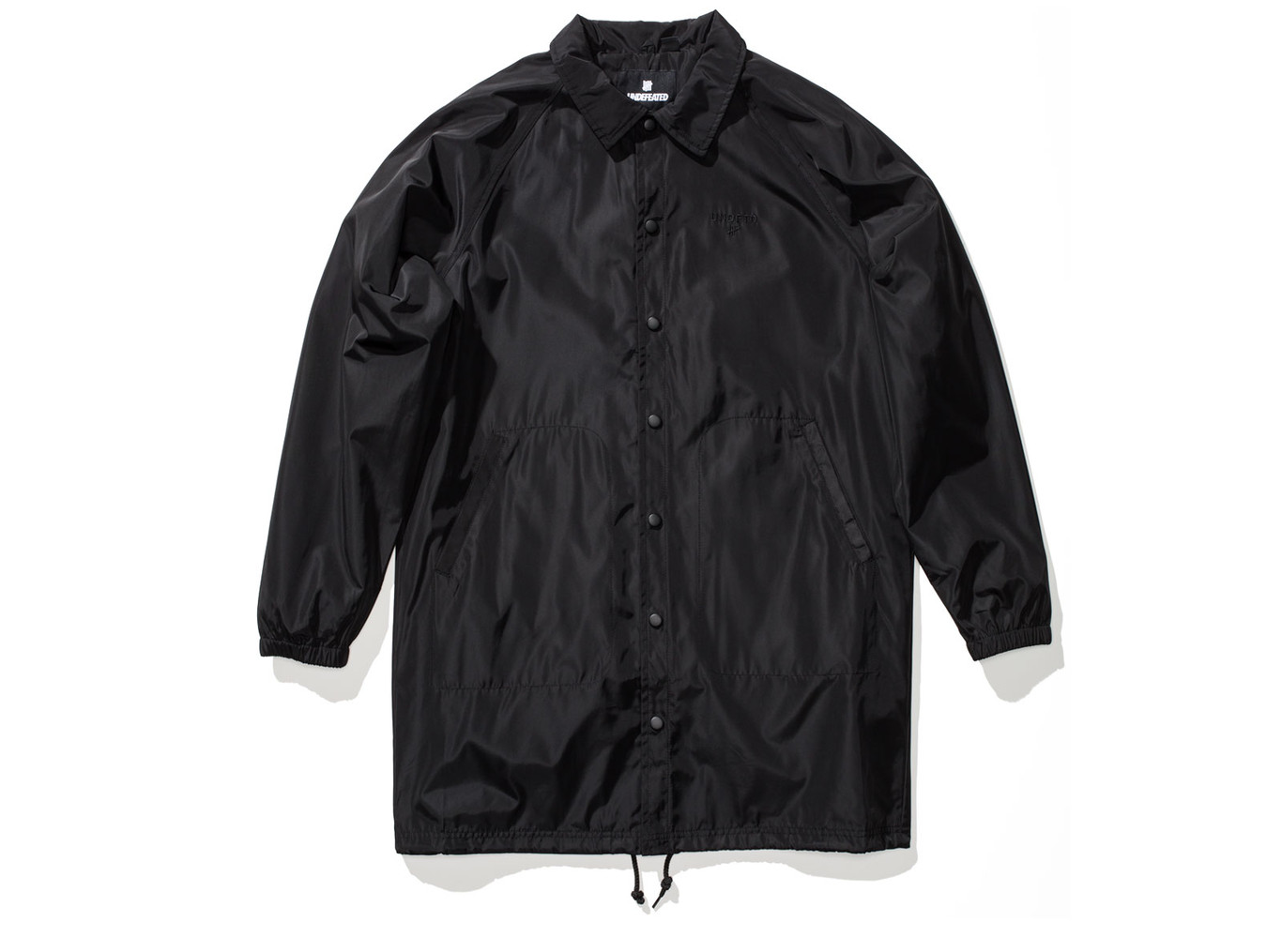 ☆Mr.Sneaker☆ Undefeated 3RD Quarter Jacket 長版 大衣 防風 風衣 外套 教練外套 黑、綠 兩色