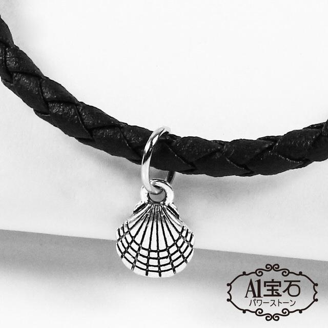 【A1寶石】聚寶盆貝殼-Endless混搭元素-仿真皮繩編織手鍊(含開光加持)