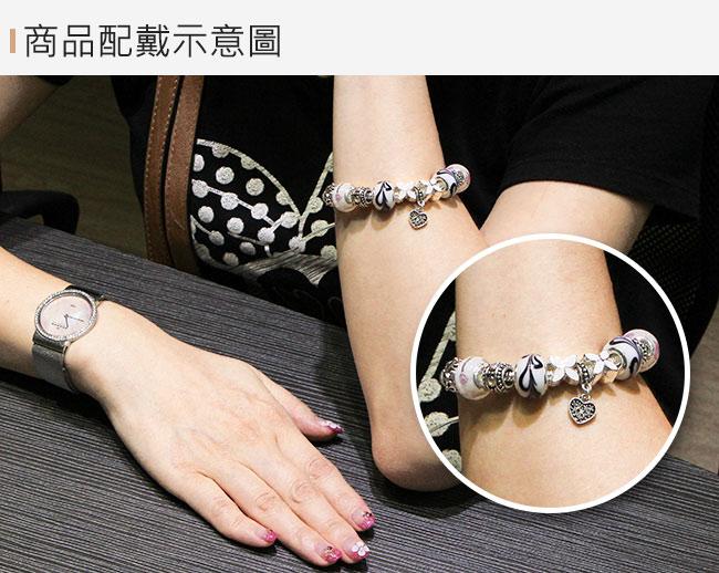 【A1寶石】潘朵拉元素日本頂級時尚-海水藍七脈輪星座琉璃手鍊(含開光加持)