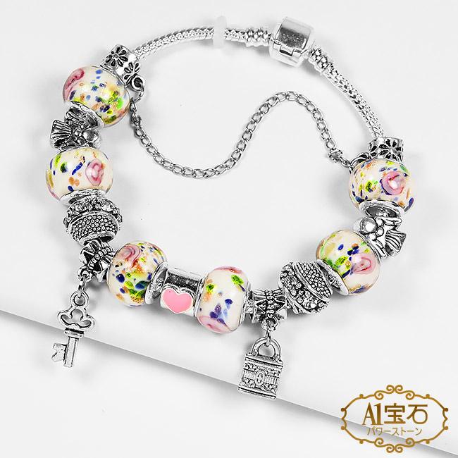 【A1寶石】潘朵拉元素日本頂級時尚-濱紛玫瑰星七脈輪星座琉璃手鍊