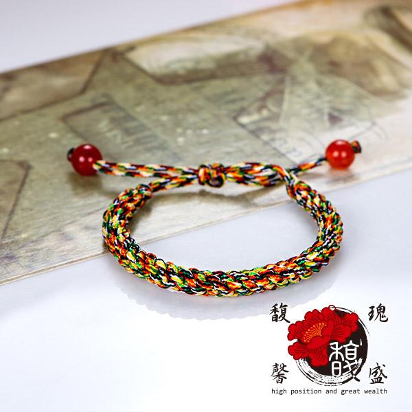五色紅線 編織兒童款五色線手鍊 文昌 男女 開運 風水 五行 手環 含開光 馥瑰馨盛