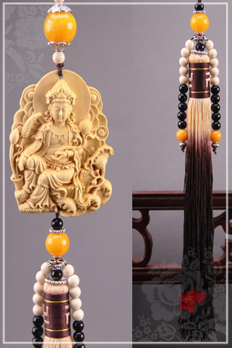 行車平安【神佛佑興隆吊飾】掛件 咒語 加持 木頭 現貨 雕刻 含開光 馥瑰馨盛NS0492