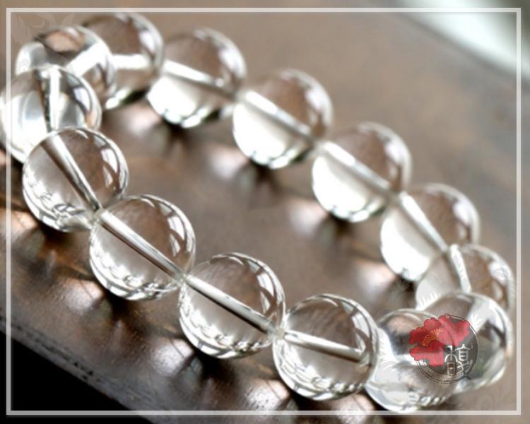 12MM淨心脈輪白水晶手鍊