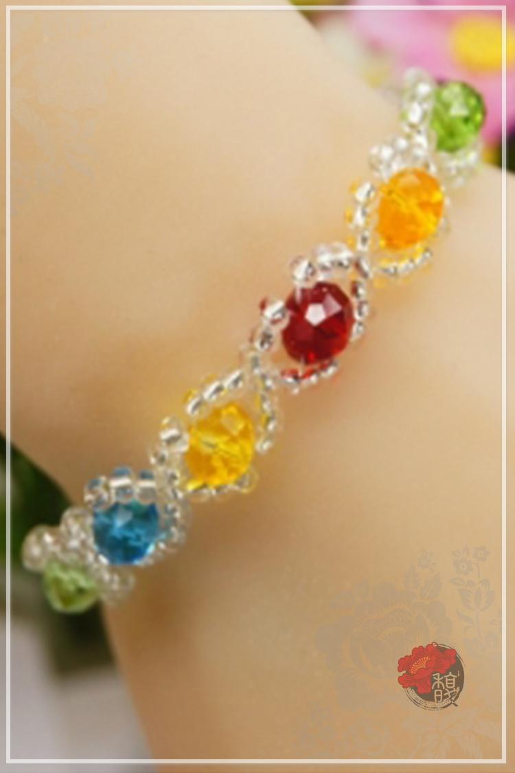 絢麗七彩水晶手鍊