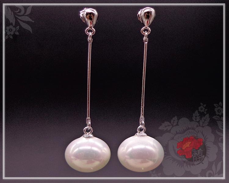 簡約工藝珍珠耳環
