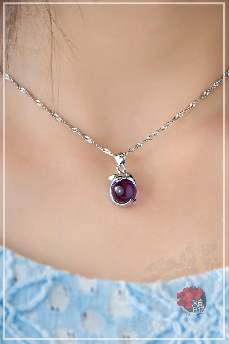 男款海洋環抱紫水晶項鍊