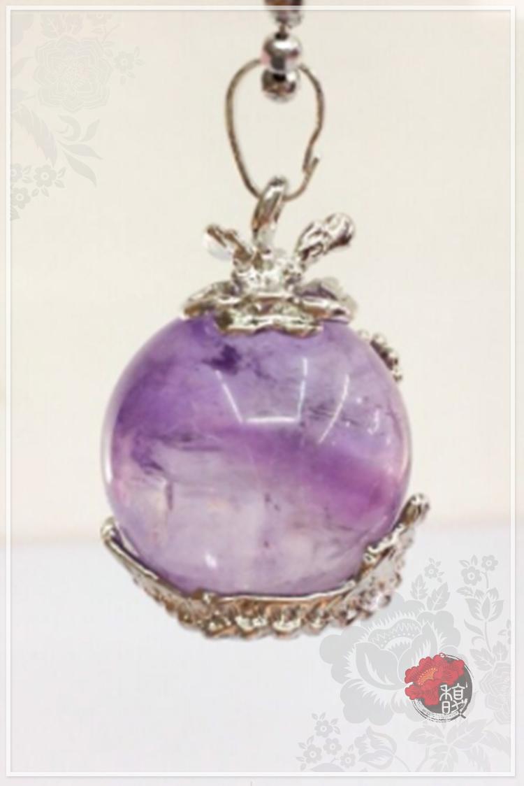 七龍抱珠紫水晶項鍊