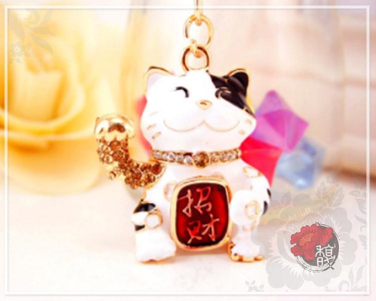 黃金招財貓鑰匙圈