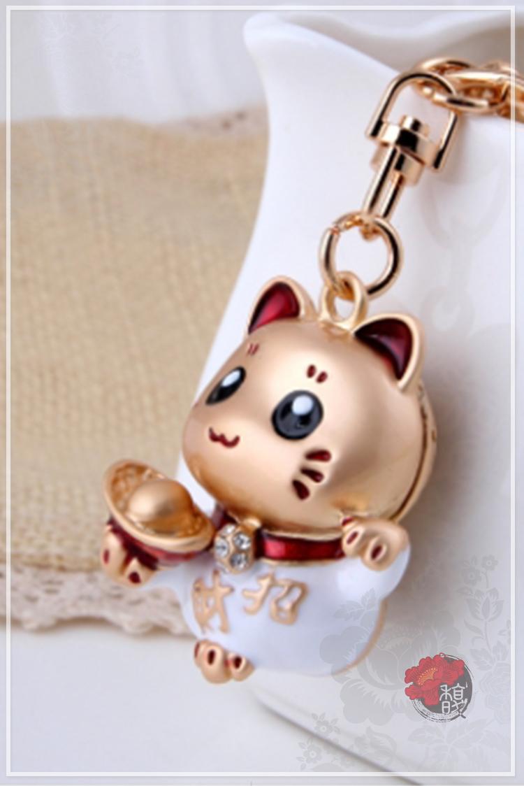 金元寶招財貓鑰匙圈