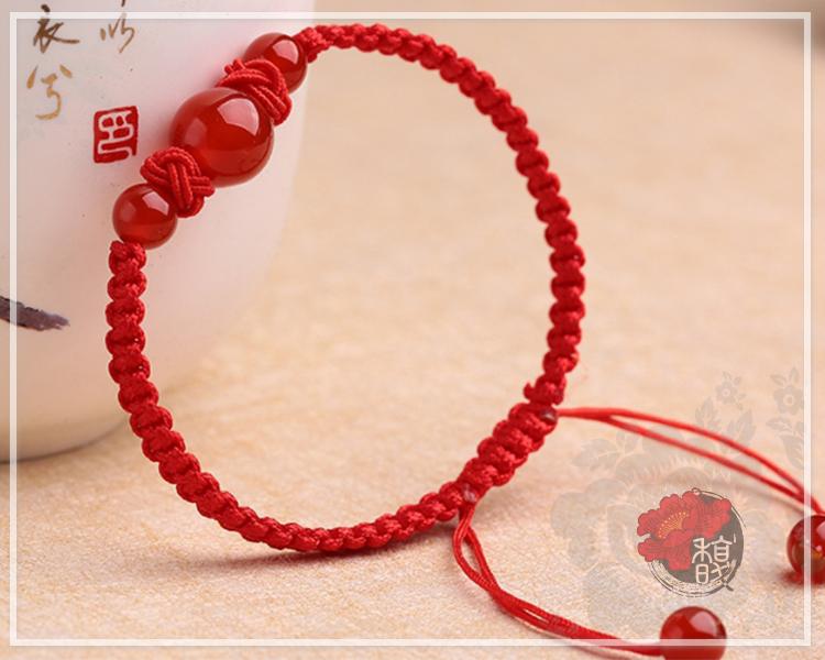 小紅水晶圓珠手作