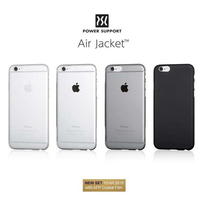 ? 未拆封福利品出清 ? POWER SUPPORT Air Jacket iPhone 6/6S 保護殼 (含保貼) - 透明/透黑(其他色暫缺)