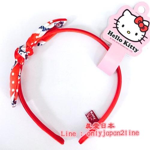 【真愛日本】16093000056可愛兔耳髮箍-KT紅  三麗鷗 凱蒂貓 KITTY 髮圈 大人小孩都適用