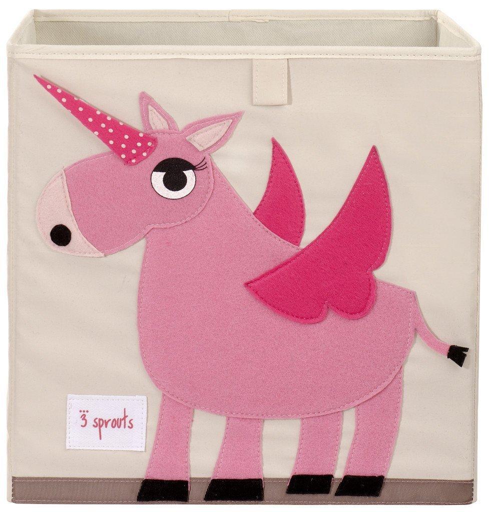 加拿大 3 Sprouts 收納箱 粉色獨角獸 *夏日微風*
