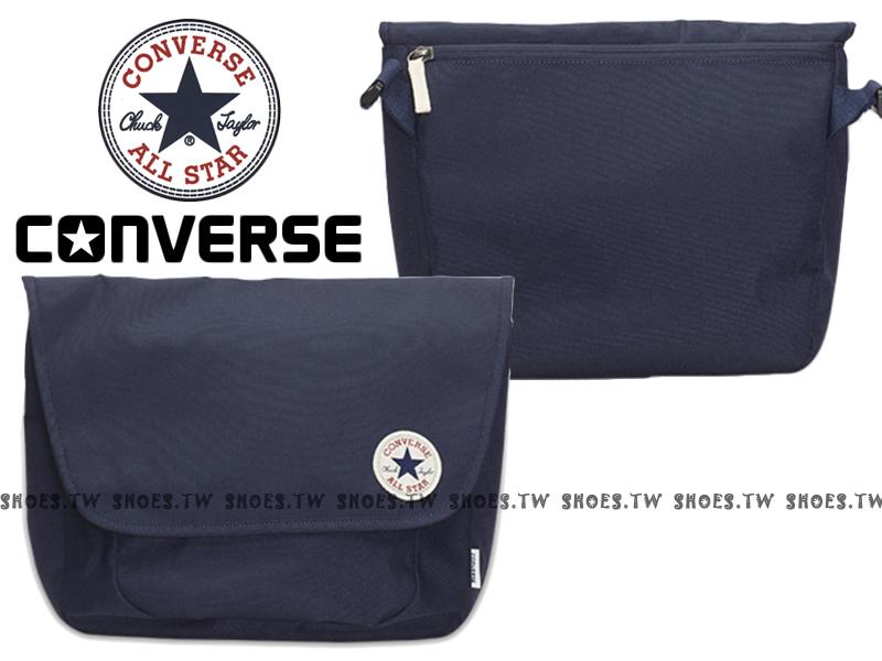 Shoestw【10002974A04】CONVERSE ALLSTAR 郵差包 深藍色 隨行包 側背包
