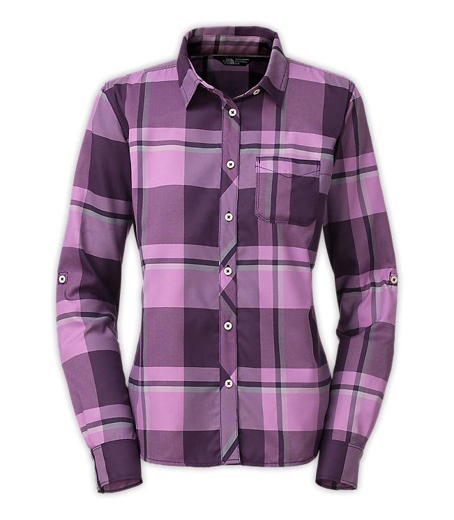 【鄉野情戶外專業】 The North Face |美國| 快乾長袖襯衫 / 防曬透氣長袖襯衫 / 女款 (紫/紫) CNH0DKK