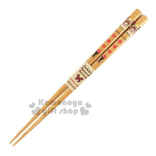 〔小禮堂〕小熊學校 日製天然竹筷子《棕.站姿.番茄.黑貓咪》全長17.5cm
