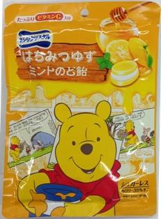 有樂町進口食品 日本小熊維尼限定版 三星低卡薄荷喉糖 蜂蜜柚子口味4547894702598