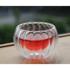 【自在坊】雙層玻璃杯 南瓜款( 50ml) 茶杯 賞茶杯 隔熱品茗茶杯 每個40元 買五贈一