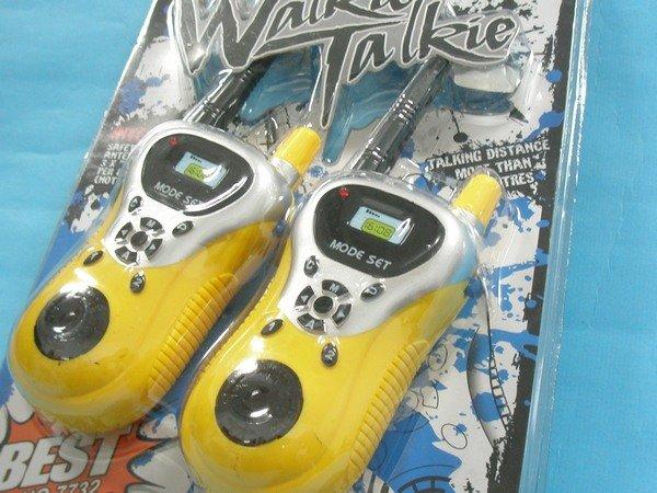 無線電對講機玩具 7732 一般手握型2人無線對講機(附電池)/一對2支入{促199}~CF92550
