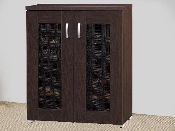 美斯特2.7尺透氣雙門鞋櫃-DIY產品-胡桃木色