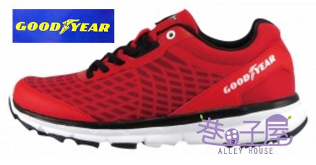 【巷子屋】GOODYEAR固特異 男款緩震越野運動慢跑鞋 [63200黑 63202紅] 超值價$990