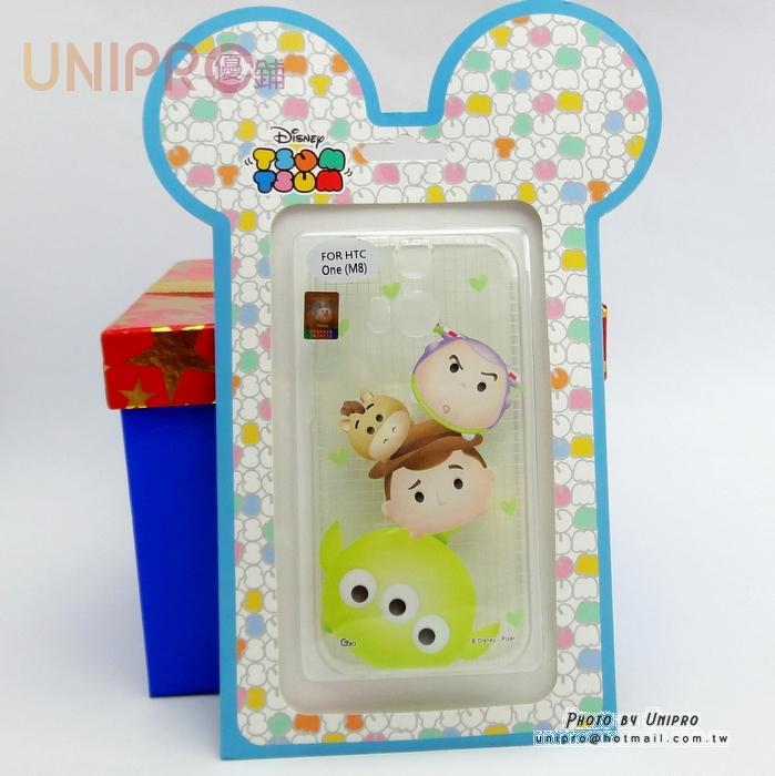 【UNIPRO】HTC ONE M8 迪士尼 Tsum Tsum 疊疊樂 玩具總動員 三眼怪 透明 TPU 手機殼 軟殼