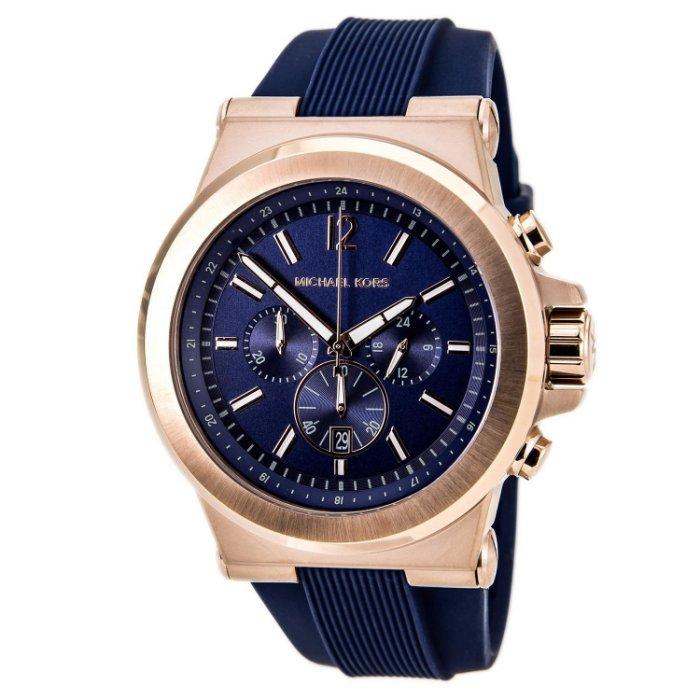【限時8折 全店滿5000再9折】 Michael Kors Dylan系列競速方程式三眼計時手錶腕錶 MK8295 Outlet正品代購