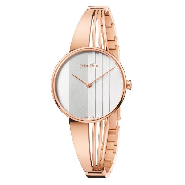 CK 曲線系列(K6S2N616)藝術穿越手環腕錶/白面34mm