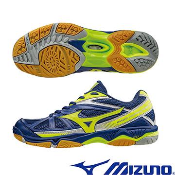 V1GA164045(藍X黃)WAVE HURRICANE 2 基本型體排球鞋 A【美津濃MIZUNO】