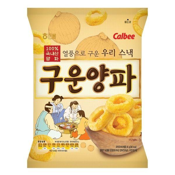 韓國餅乾 海太Calbee 卡樂比 烤洋蔥圈餅乾