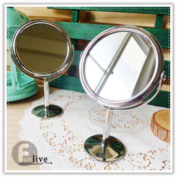 【aife life】雙面立式化妝鏡/雙面 放大/旋轉/梳妝台/鏡子/雙面鏡/圓鏡/立鏡/美妝用品