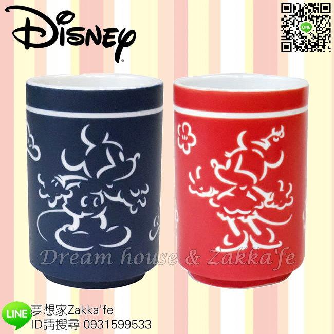 日本進口 Disney 迪士尼 米奇/米妮 陶瓷 湯吞/對杯/茶杯 《 2款一組 》 ★ 日本製 ★ 夢想家精品家飾