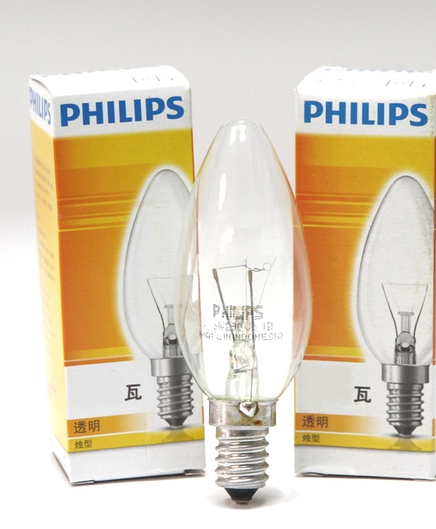 飛利浦PHILIPS★ 蠟燭型 燈炮 60W 220V E14★永旭照明PH-60W22014RF