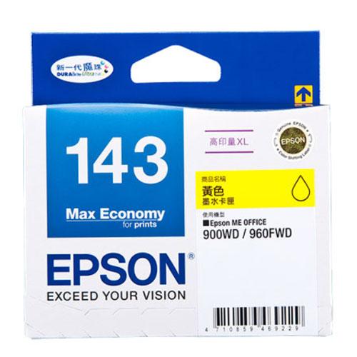 【EPSON 墨水匣】T143450 黃色原廠高印量XL墨水匣
