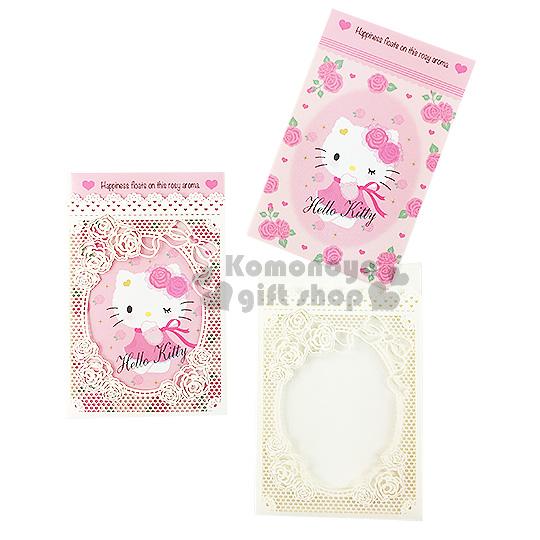 〔小禮堂〕Hello Kitty 日製紅包袋《粉白.坐姿.蕾絲.玫瑰.緞帶》財源滾滾來