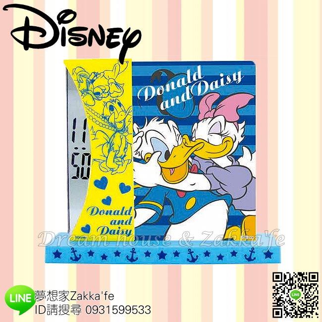 日本正版 Disney 迪士尼 唐老鴨 黛西 桌上型 兩用 時鐘/相框《 電子顯示超安靜 》★ 簡單時尚可愛 ★ 夢想家精品家飾