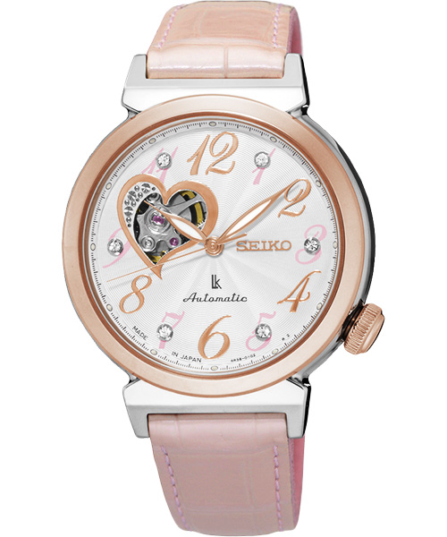 Seiko Lukia 4R38-01C0P(SSA842J1)彩戀開心鏤空機械腕錶/白面34.6mm