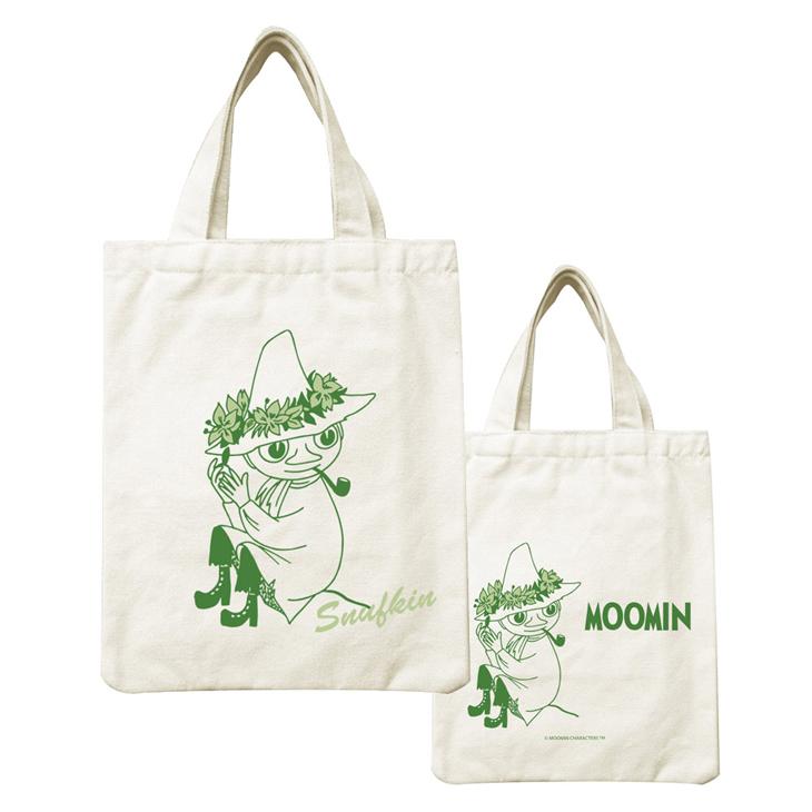 Moomin嚕嚕米正版授權 - 帆布包:【 Snufskin 】