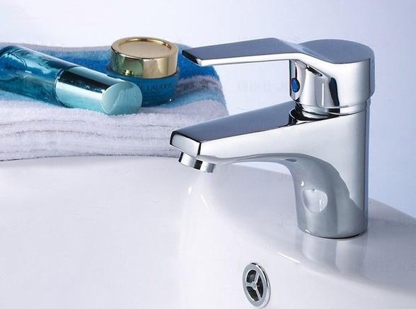 簡單有型面盆水龍頭 洗臉盆專用 單孔冷熱水洗臉盆臉盆台盆洗手盆衛浴浴室水龍頭