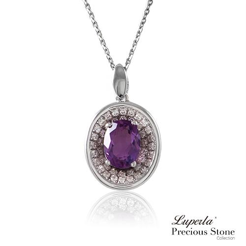 大東山珠寶 紫戀羅蘭 璀璨純銀紫水晶項鍊 星座愛情