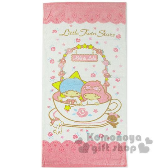 〔小禮堂〕雙子星 大浴巾《白粉.玫瑰花圈.咖啡杯》100%棉