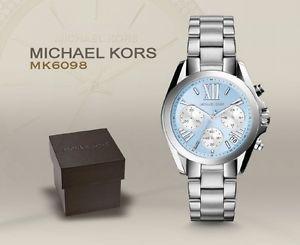 美國Outlet 正品代購 Michael Kors MK 簡約淺藍三環計時手錶腕錶 MK6098