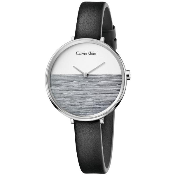 CK 晨曦系列(K7A231C3)旭日平洋腕錶/黑白面38mm