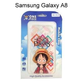 海賊王透明軟殼 [格子] 魯夫 Samsung A8000 Galaxy A8 航海王保護殼【正版授權】