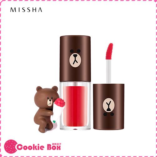 韓國 MISSHA X LINE 聯名款 熊大 水感 唇液 4.5g 唇蜜 口紅 唇彩 染色 *餅乾盒子*
